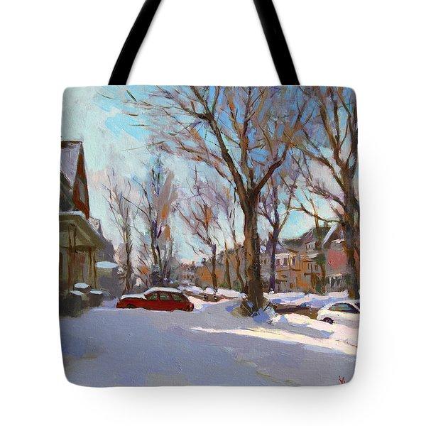 Fresh Snow Tote Bag by Ylli Haruni