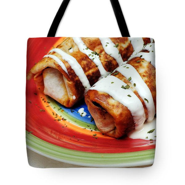 Fried Chili Cheese Burrito Tote Bag by Andee Design