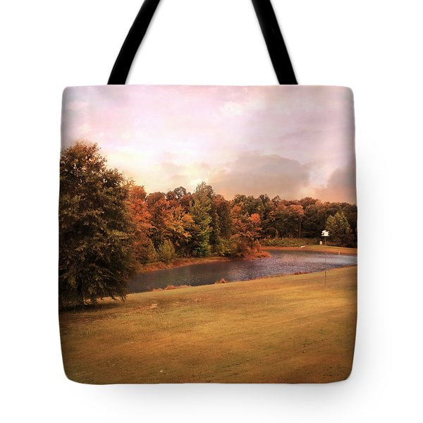 Friendship Pond Tote Bag by Jai Johnson