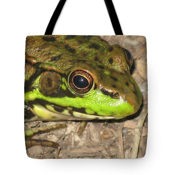 Frog Tote Bag by Debbie Finley