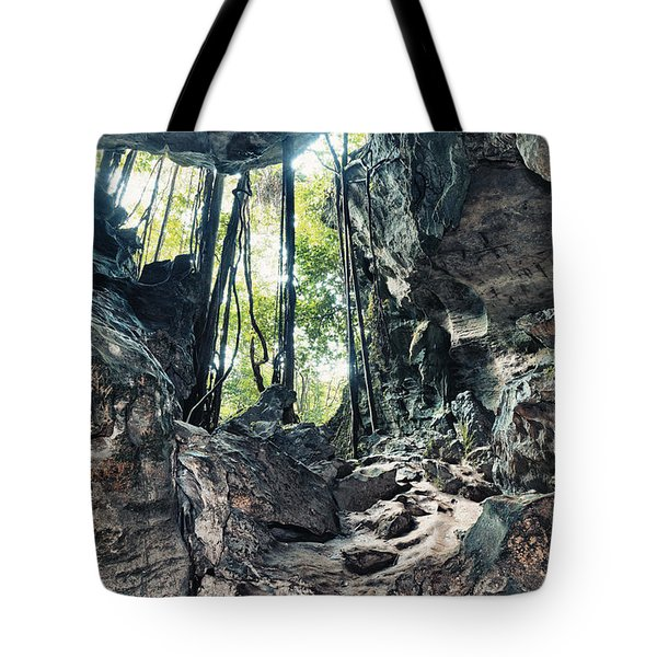 From The Cave Tote Bag by MotHaiBaPhoto Prints