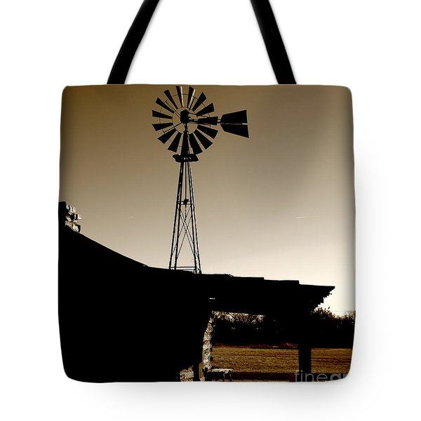 Frost On The Stoop Tote Bag by Robert Frederick