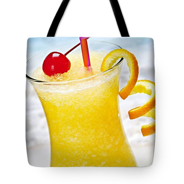 Frozen Tropical Orange Drink Tote Bag by Elena Elisseeva