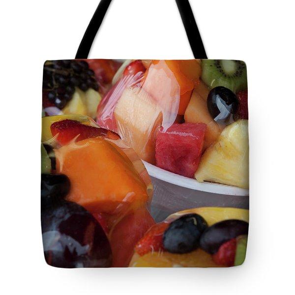 Fruit Cup Tote Bag by Lorraine Devon Wilke