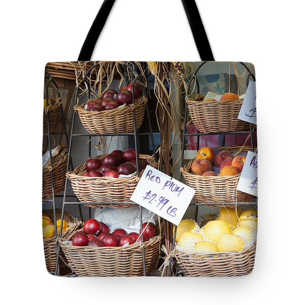 Fruit For Sale Tote Bag by Clarence Holmes