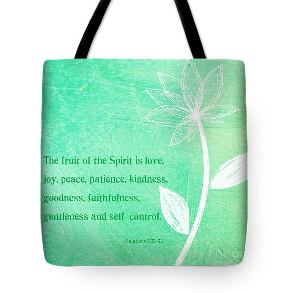 Fruit Of The Spirit Tote Bag by Linda Woods