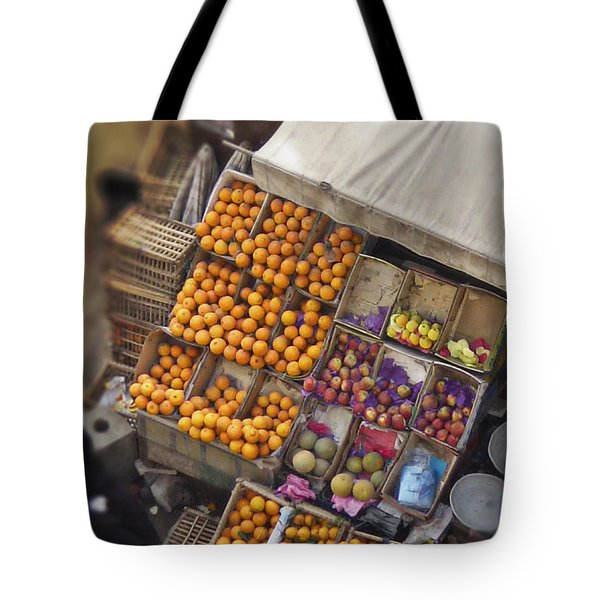 Fruit Vendor in the Kahn Tote Bag by Mary Machare