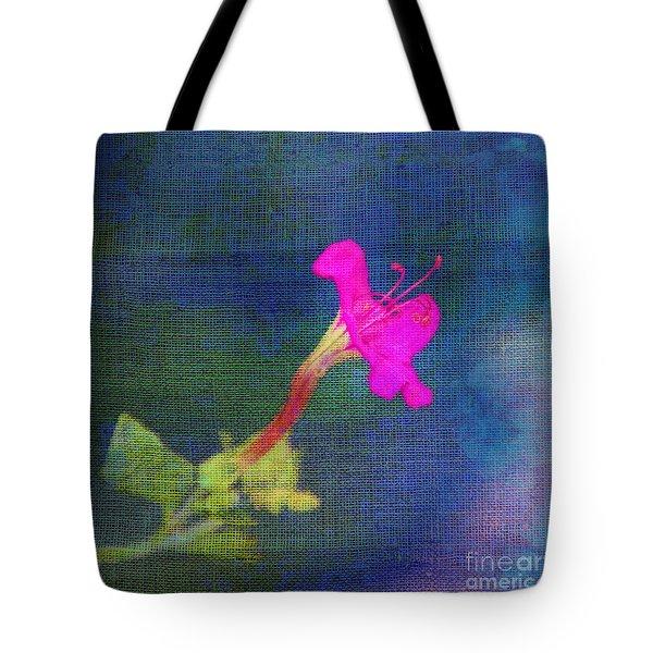 Fuchsia Flower Tote Bag by Judi Bagwell