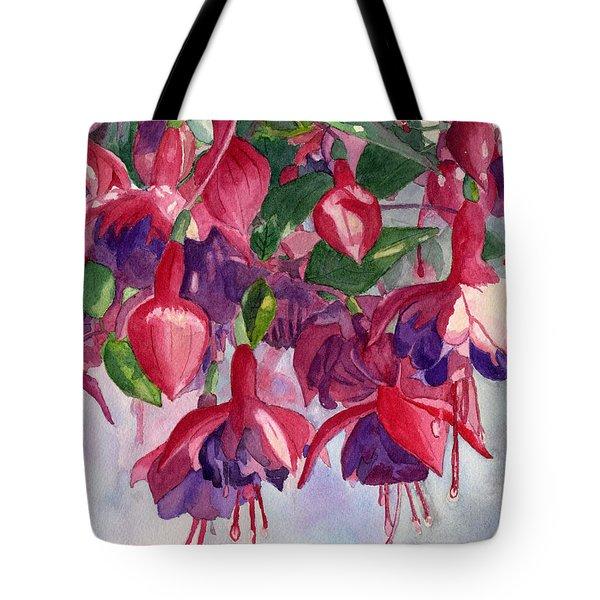Fuchsia Frenzy Tote Bag by Lynne Reichhart
