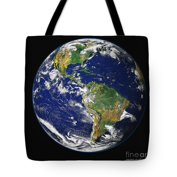 Full Earth Showing The Western Tote Bag by Stocktrek Images