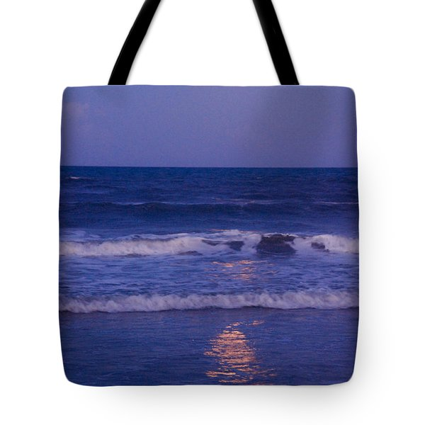 Full Moon Over The Ocean Tote Bag by Susanne Van Hulst