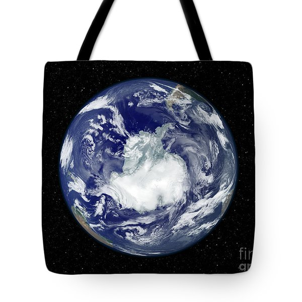 Fully Lit Full Disk Image Centered Tote Bag by Stocktrek Images