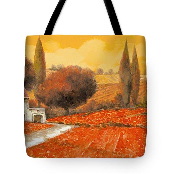 fuoco di Toscana Tote Bag by Guido Borelli