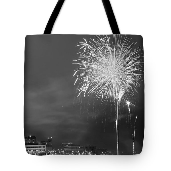 Fur Rondy Fireworks Tote Bag by Ed Boudreau