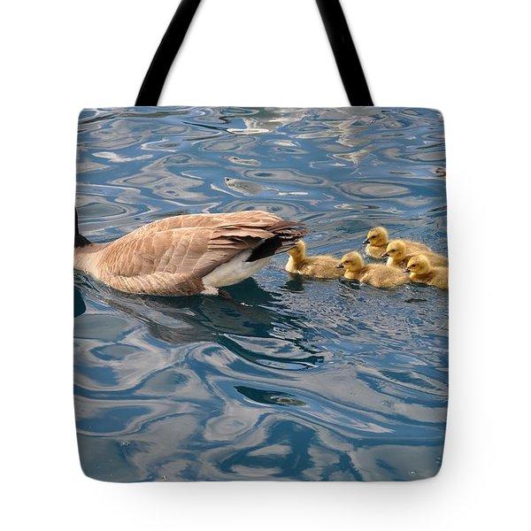 Fuzzy Babies Tote Bag by Diana Nigon