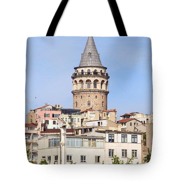 Galata Tower In Istanbul Tote Bag by Artur Bogacki