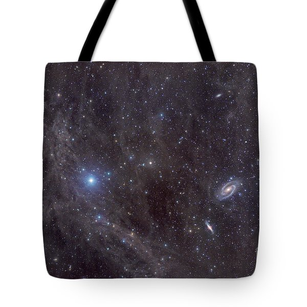 Galaxies M81 And M82 As Seen Tote Bag by John Davis