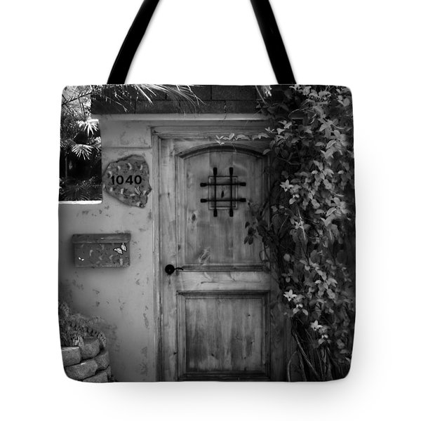 Garden Doorway 2 Tote Bag by Perry Webster