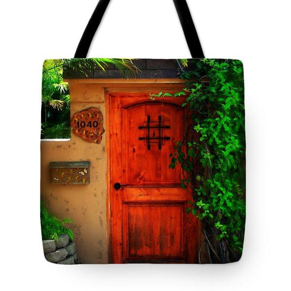 Garden doorway Tote Bag by Perry Webster