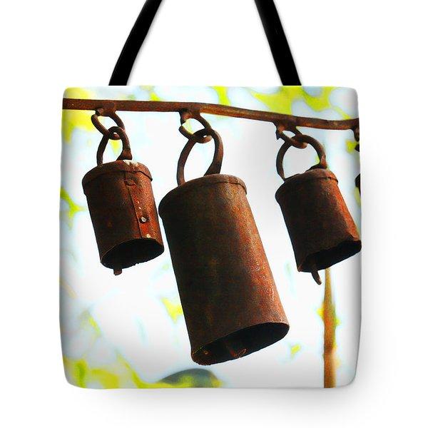 Garden Noah Bells 2 Tote Bag by Cheryl Young
