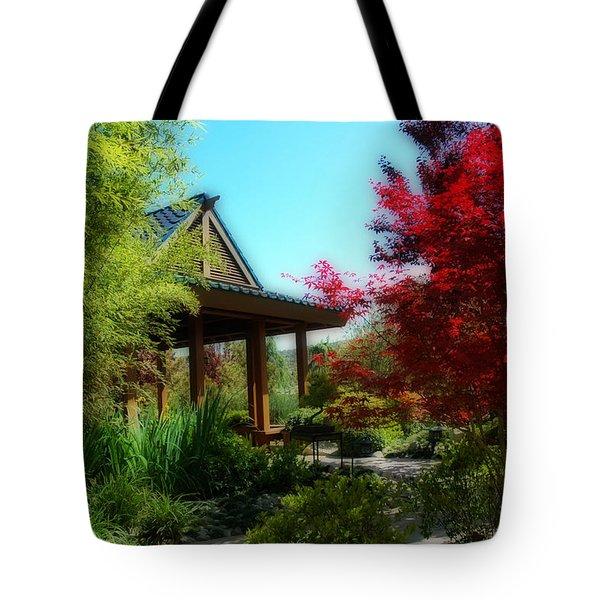 Garden Retreat Tote Bag by Lynn Bauer