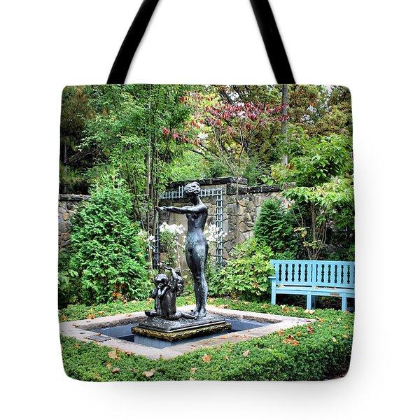 Garden Statuary Tote Bag by Kristin Elmquist