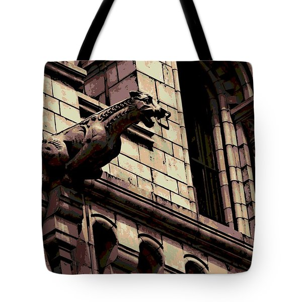 Gargoyle Tote Bag by George Pedro