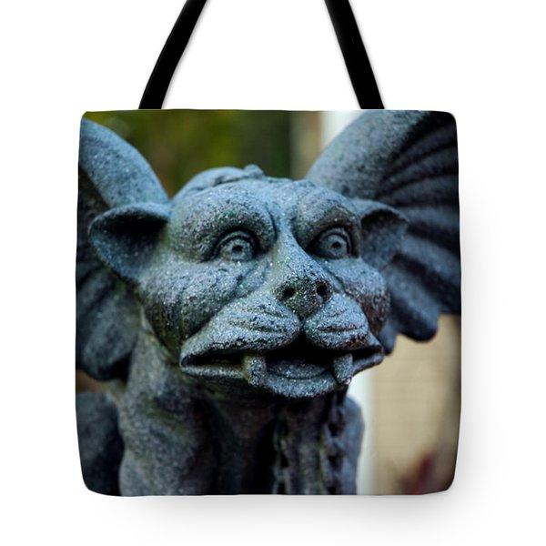 Gargoyle Tote Bag by LeeAnn McLaneGoetz McLaneGoetzStudioLLCcom