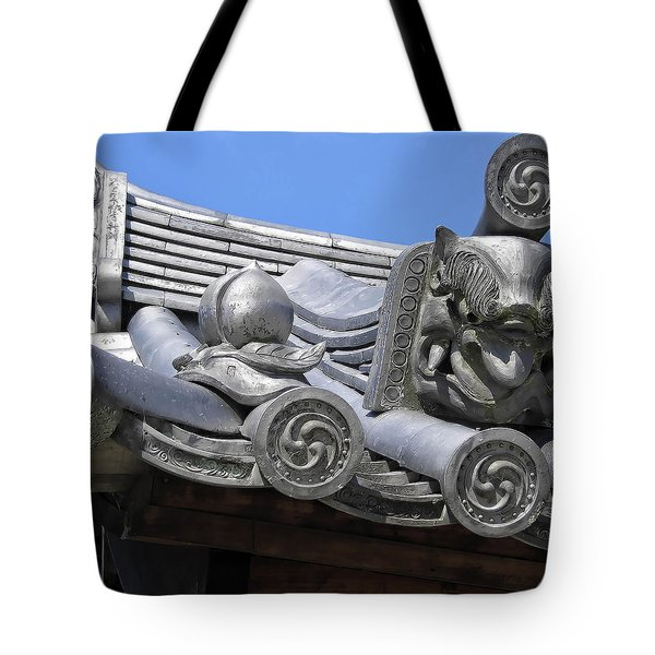Gargoyles Of Horyu-ji Temple - Nara Japan Tote Bag by Daniel Hagerman