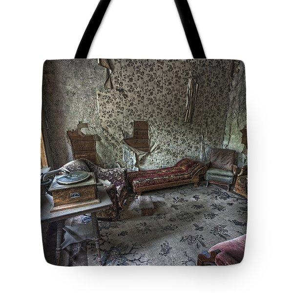 Garnet Ghost Town Hotel Parlor - Montana Tote Bag by Daniel Hagerman