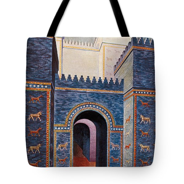 Gate Of Ishtar, Babylonia Tote Bag by Photo Researchers