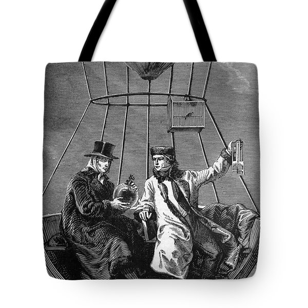 Gay-lussac And Jean-baptiste Biot, 1804 Tote Bag by Science Source