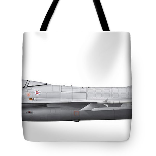 General Dynamics F-16a Fighting Falcon Tote Bag by Chris Sandham-Bailey