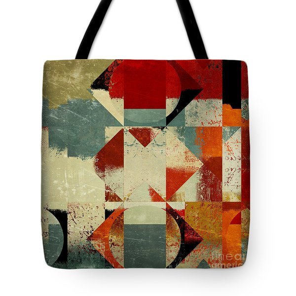Geomix 04 - 39c3at227a Tote Bag by Variance Collections