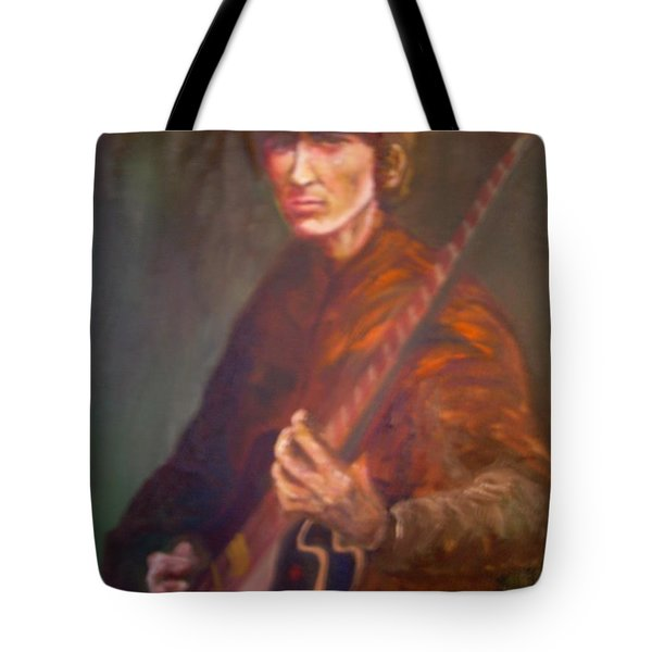 George Harrison Tote Bag by Leland Castro