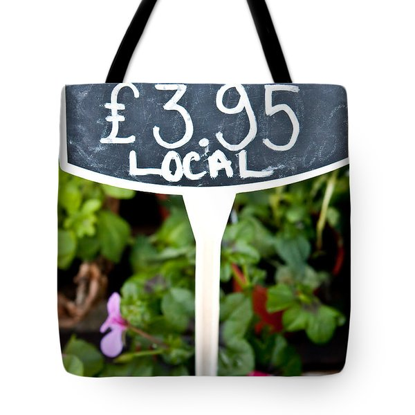 Geranium Tote Bag by Tom Gowanlock