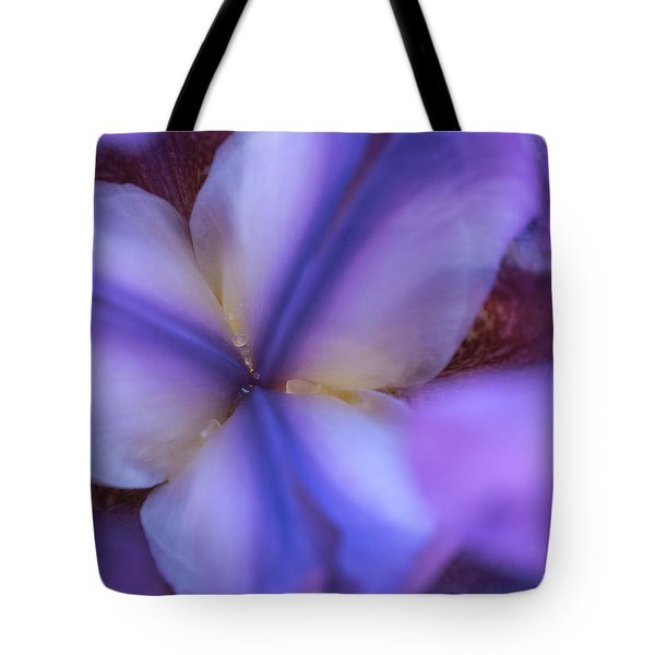 Getting Intimate With Iris Tote Bag by Dennis Reagan