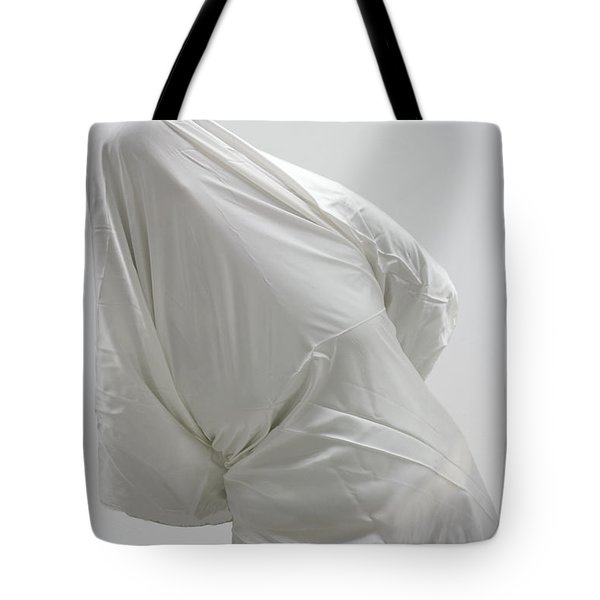 Ghost - Person Covered With White Cloth Tote Bag by Matthias Hauser