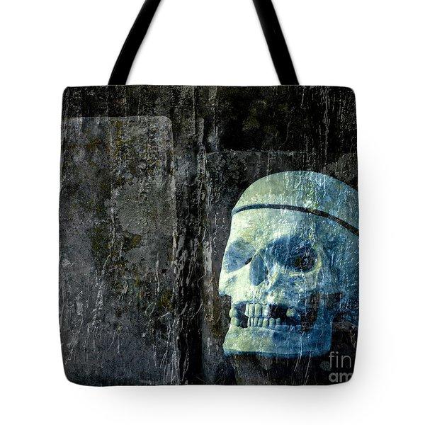 Ghost Skull Tote Bag by Edward Fielding