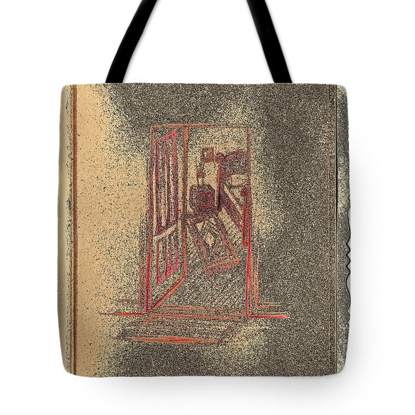 Ghost Stories Farmhouse Tote Bag by First Star Art