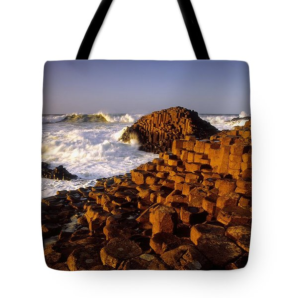 Giants Causeway, County Antrim, Ireland Tote Bag by The Irish Image Collection