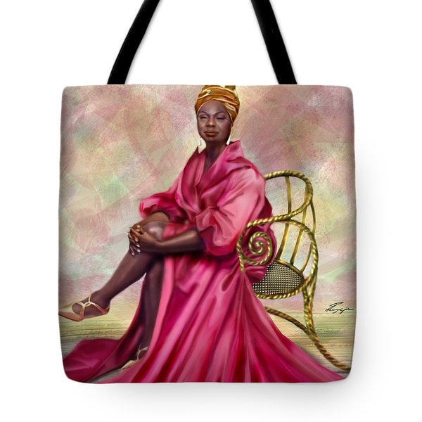 Gifted And Black-no Longer Looking Back Tote Bag by Reggie Duffie