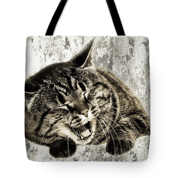 Giggle Kitty Tote Bag by Andee Design