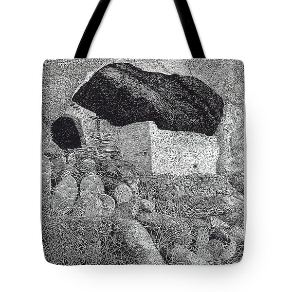 Gila Cliff Dwelings BIG ROOM Tote Bag by Jack Pumphrey