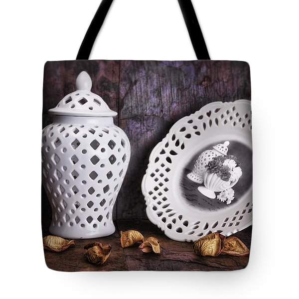 Ginger Jar and Compote Still Life Tote Bag by Tom Mc Nemar