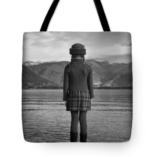 Girl At A Lake Tote Bag by Joana Kruse