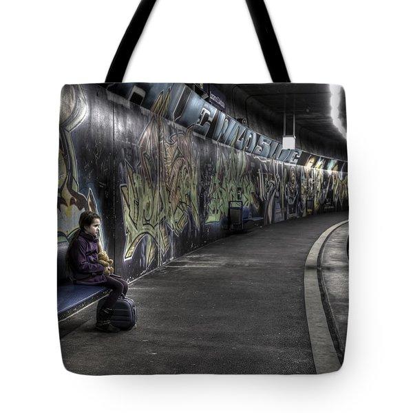 Girl In Station Tote Bag by Joana Kruse