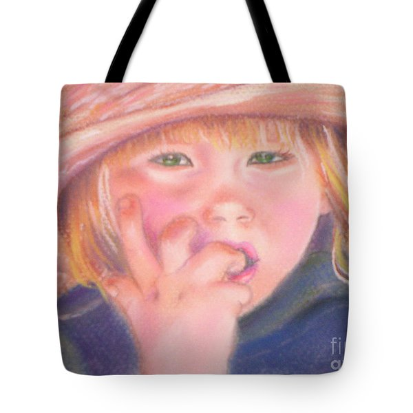 Girl In Straw Hat Tote Bag by Julie Brugh Riffey