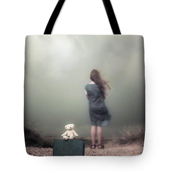 girl in the dunes Tote Bag by Joana Kruse