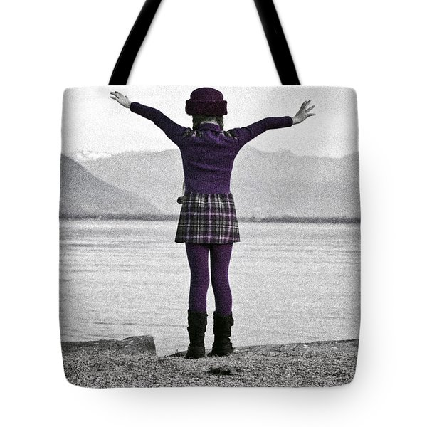 Girl On The Shores Of Lake Maggiore Tote Bag by Joana Kruse